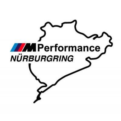 2 броя  Nurburgring M Performance стикер лепенка  BMW M3 M5 M