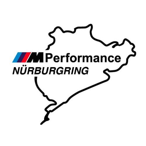 2 броя  Nurburgring M Performance стикер лепенка  BMW M3 M5 M