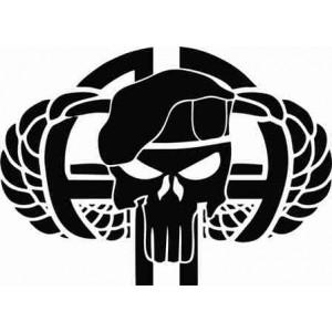 """Airborn Punisher стикер на """"Наказателя"""" за задно стъкло"""