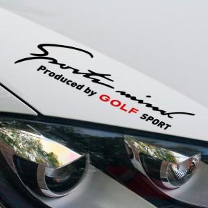 2017 дизайнерски стикер Sports Mind Produced by Golf Sports лепенка за автомобил Volkswagen VW Golf 4 5 6 GLX SE TDI GTI