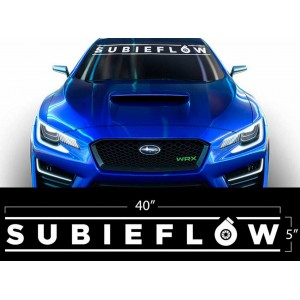 Дизайнерски стикер от висококачествено винилово фолио SUBIEFLOW Subaru WRX STI BRZ Subie Flow Turbo Flat White модел за автомовил Субару