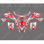 Стикери за YAMAHA BLASTER YFS200 1988-2006 RED/WHITE