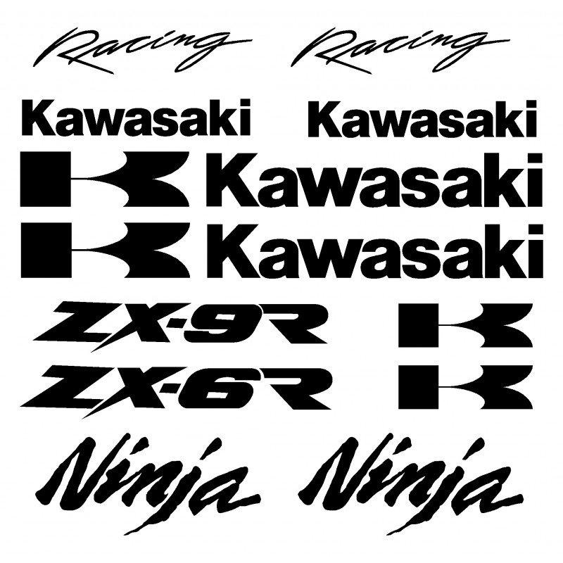 Сет от стикери Kawasaki