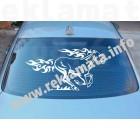 Стикер за задно стъкло на кола бягащ кон