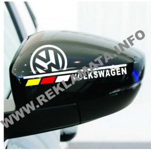 Комплект стикери за страничните огледала VW