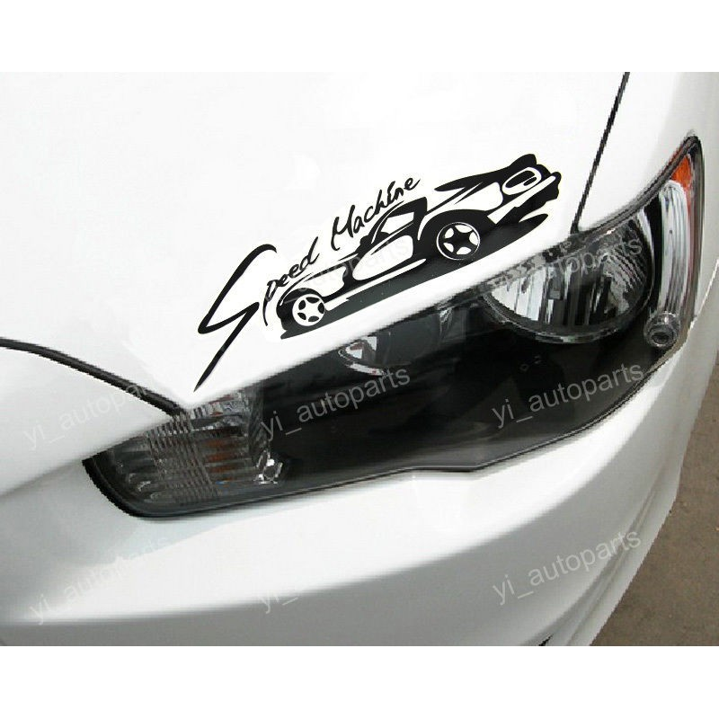 Стикер лепенка над фара Speed Machine/ tuning без значние от  модела на автомобила