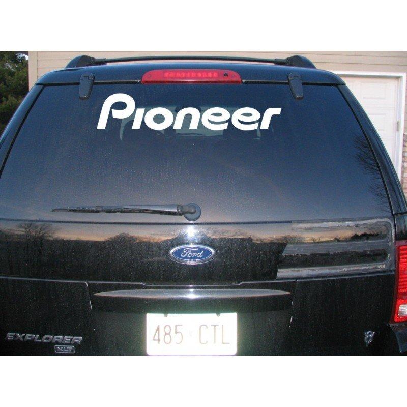 Стикер за кола, лепенка, задно стъкло, странични врати Pioneer