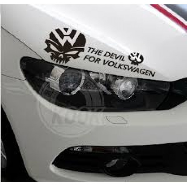 VW SKULL RIDER, стикер лепенка за фолксваген за фар, тунинг стикер