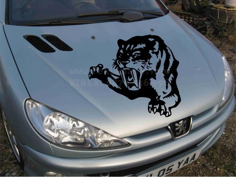 Стикер тигър за преден капак на автомобил