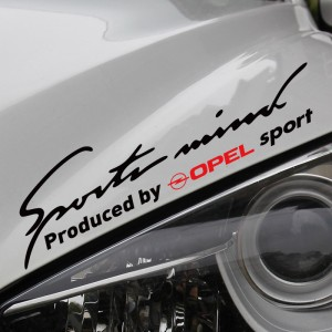 Sport mind powered by opel  стикер тунинг за опел, всички модели, лепенка за автомобил