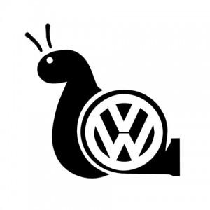 Турбо охлюв с черупка лого,  стикер, лепенка подходяща за всички модели на фолксваген VW