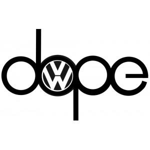 Стикер Dope с  лого на VW,  стикер, лепенка подходяща за всички модели на фолксваген VW