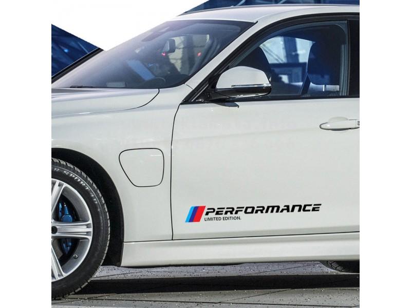 2 броя Стикери M Performance  BMW  тунинг стикери, за страници на автомобил, подходящ за всеки модел БМВ