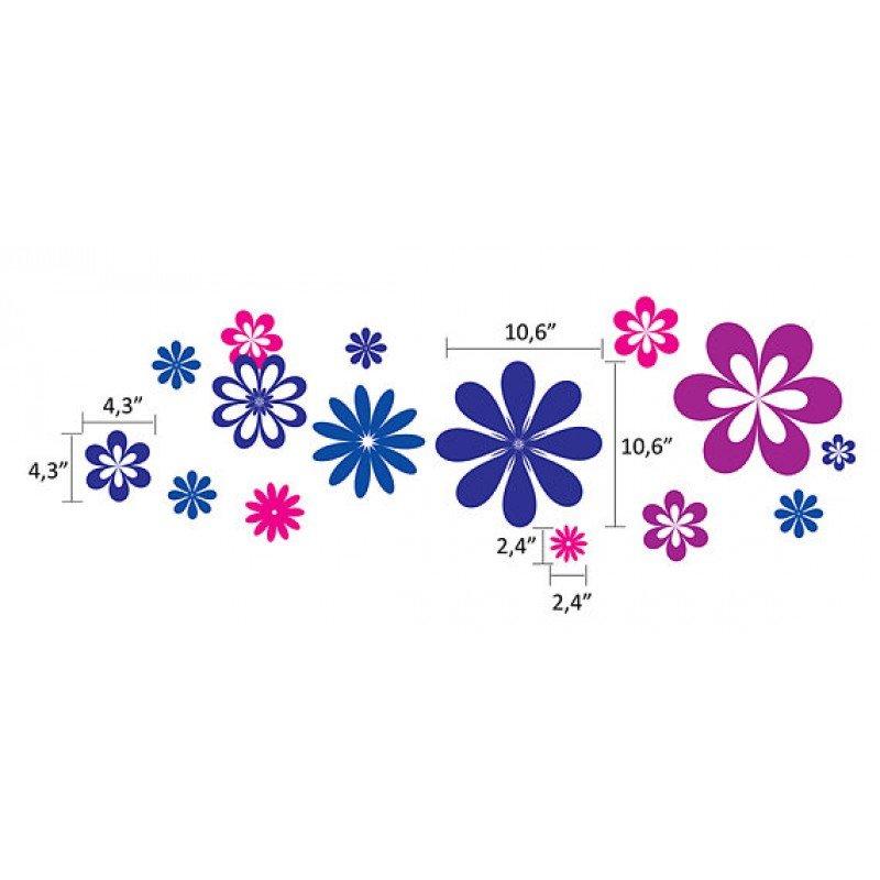 Сет от много стикери, цветя различни цветове.