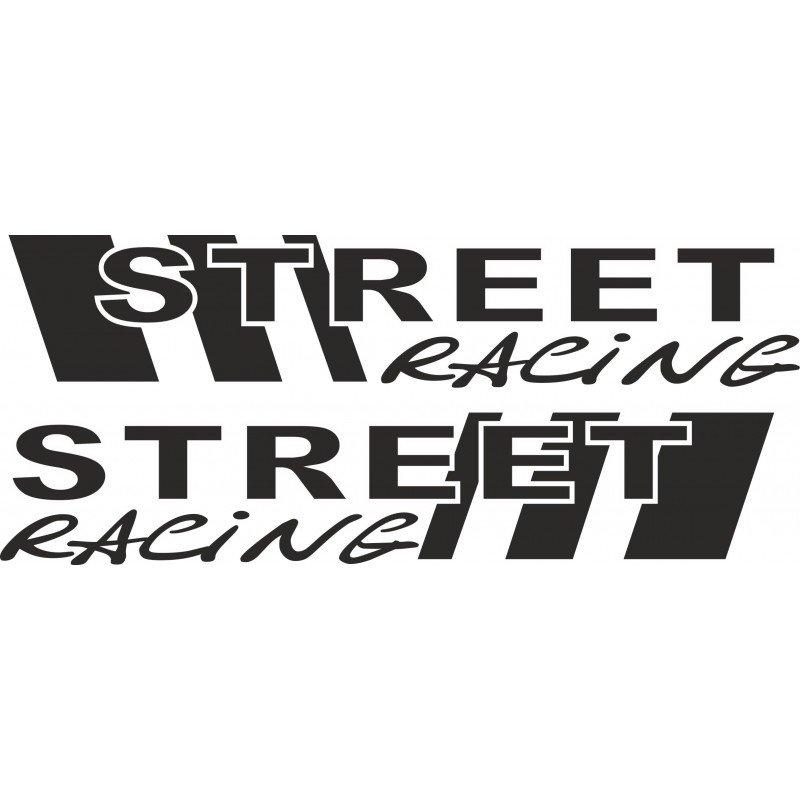 Два броя Street racing  стикери, лепенки за кола, BMW, ALFA ROMEO, FORD, GOLF, VW