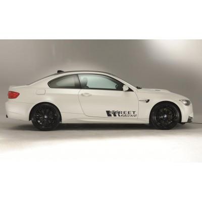Два броя Street racing  стикери, лепенки за кола, BMW, ALFA ROMEO, FORD, GOLF, VW,