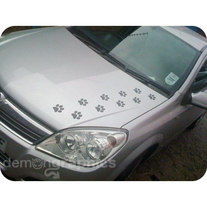 Лапички стикер за коли, лепенки за автомобил