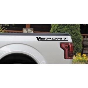 Два броя Състезателени стикери Sport подходящ за всеки вид автомобил