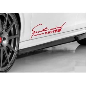 Sports Mind Powered by Racing Edition стикер, лого, кола, състезателен