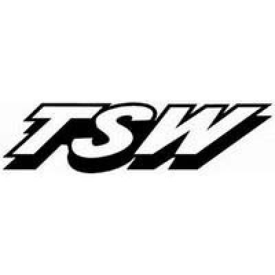 TSW лепенка , състезателна за автомобил, тунинг стикер, лого