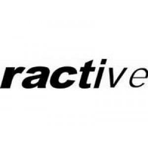 Ractive лепенка , състезателна за автомобил, тунинг стикер, лого
