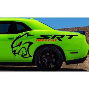 Дизайнерски стикер SRT Challenger Hellcat, два броя