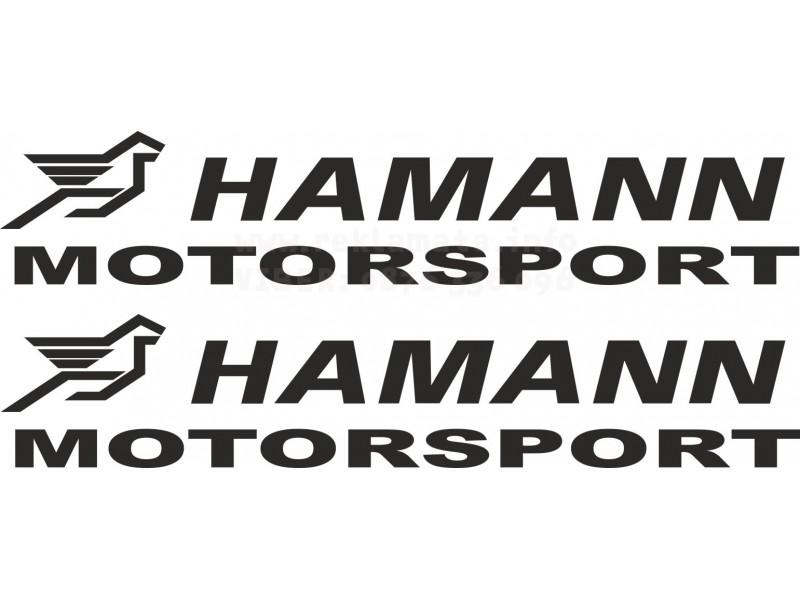 Лoго Hamann с допълнителен надпис Motorsport, стикер, лепенка за коли и мотори