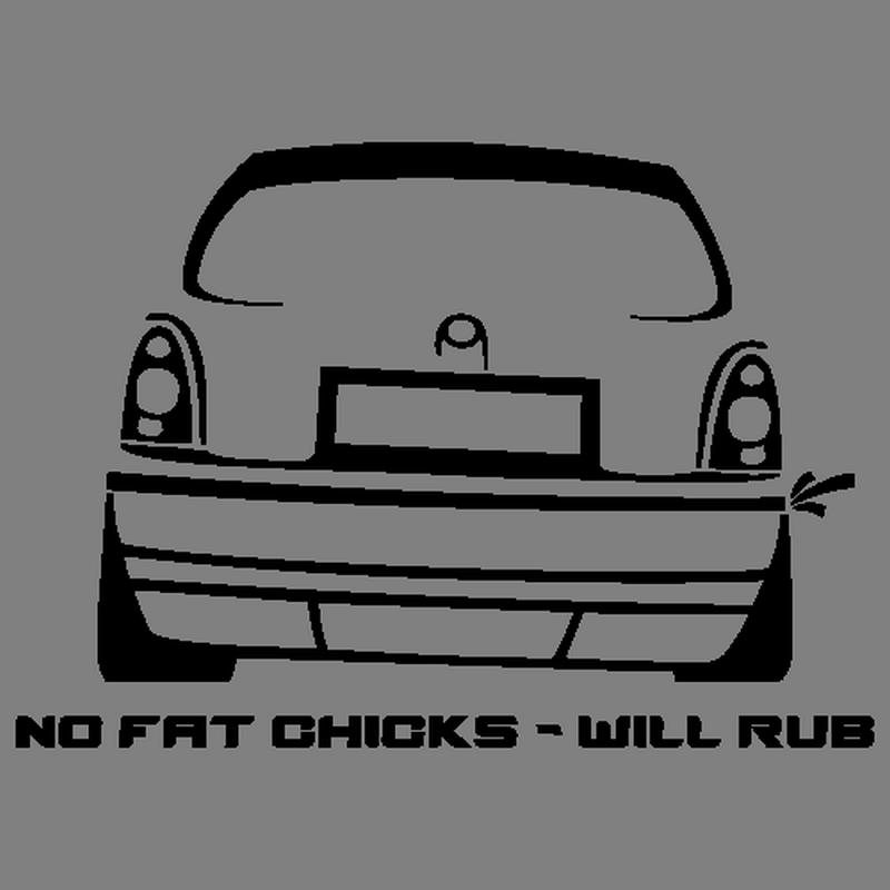 Стикер JDM Opel Corsa No Fat Chicks Decal