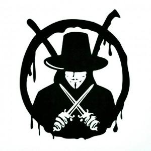 Анонимните стикер за лепене