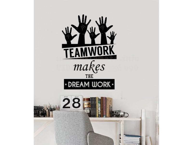 Стенен стикер, Team Work, уникални лепенки за дома