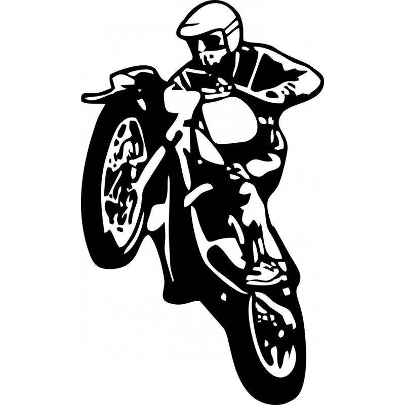 Стикер моторист, ендуро, кросов мотор