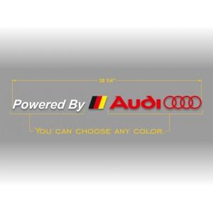 Audi powered лого с немския флаг стикер