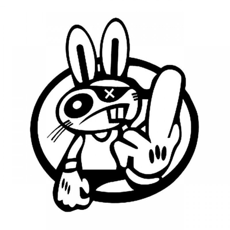 Crazy Rabbit  стикер