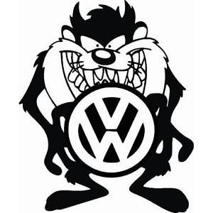 Тазмънийския дявол с логото на VW