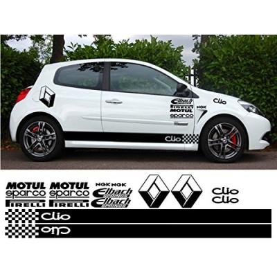 Сет от стикери за Рено клио,  Renault Clio