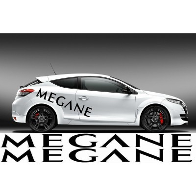 Два броя стикери с надпис MEGANE