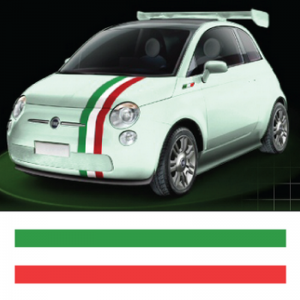 Три ленти, италиянски флаг, Ленти за автомобил