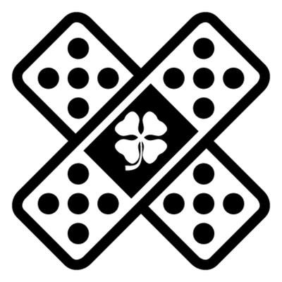 4 броя лепенки с  детелина в центъра.