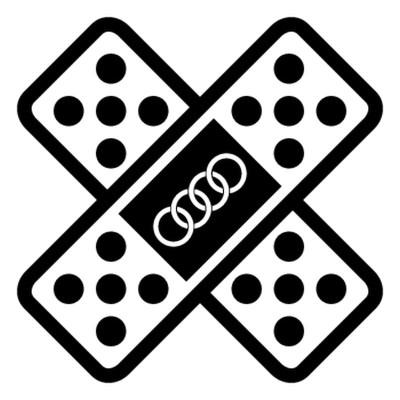 Стикер лепенка с логото на ауди 4 броя