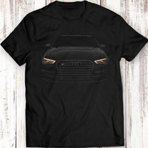 Тениска със силует на Ауди