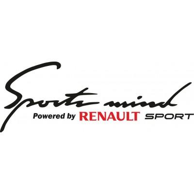 Sports mind стикер за Рено