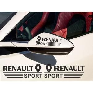 Два броя стикери за страничните огледала Рено sport