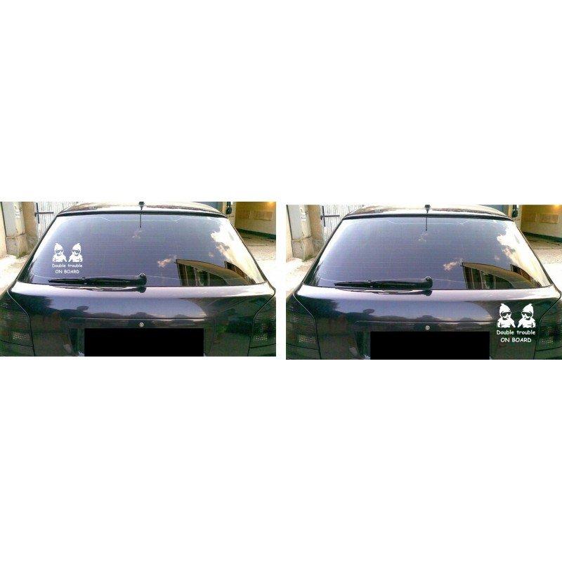 Детски предупредителен стикер Близнаци В Колата Double trouble on board