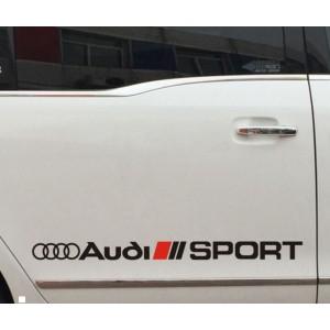 Audi Sport  състезателен стикер за моделите на Ауди 2 броя