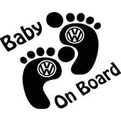 Бебе на борда, Baby on board Vw  стикер