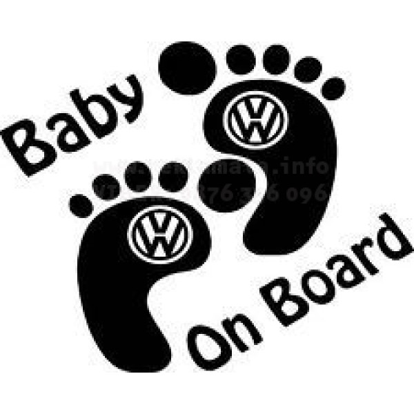 Бебе на борда, Baby on board Vw  стикер