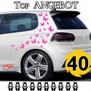 Сет от стикери за автомобил, пеперуди