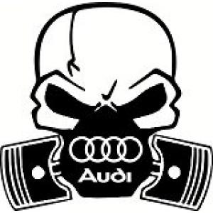 Череп с логото на Ауди