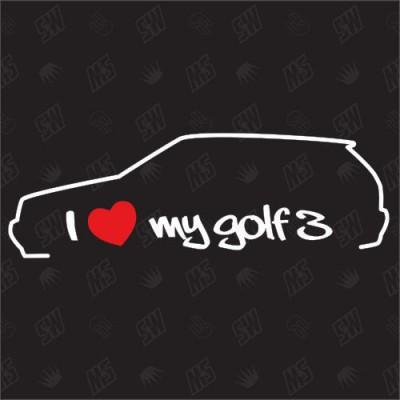I love golf 3  Стикер