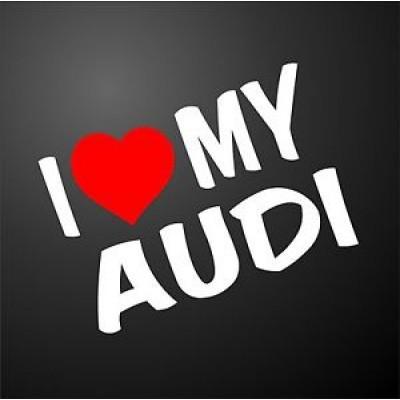 I love my audi стикер, лепенка за автомобил - модел 2